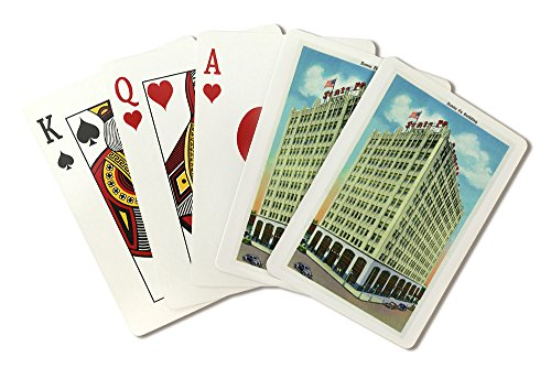Amarillo, Texas - Exterior View of the Santa Fe Building (Playing Card Deck - 52 Card Poker Size with Jokers) ()