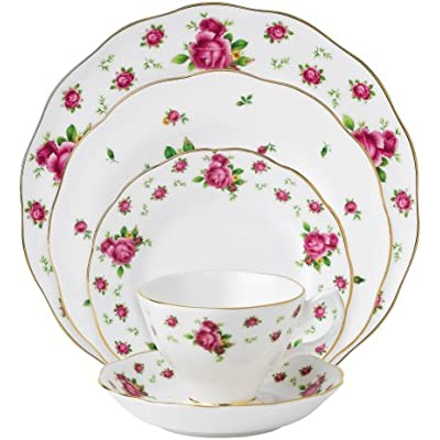 Click for Royal Albert New Country Roses White Vintage Formal Place Setting, 5-Piece