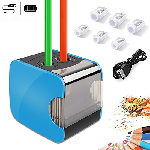 Electric Pencil Sharpeners,WILWOLF Dual Holes Automatic Pencil...