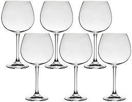 Conjunto de 6 Taças de Gin em Cristal 850ml Flamenco Bohemia