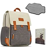 Diaper Bag Backpack - Large Multi-Function Maternity Baby Nappy Bags, Large Capacity for Travel, W/Stroller Straps-Insulated Pockets-Changing Pad-Luggage Strap | for Mom and Dad + eBook