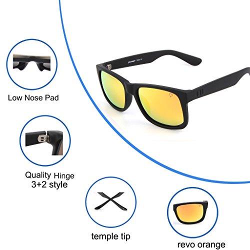 55de2e4b81 Tacloft Polarized TR90 unbroken Sunglasses 54mm Classic Wayfarer Eyewear  Shade tl6001