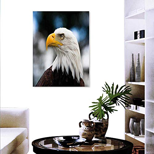 Anyangeight Eagle Canvas Wall Art Bedroom Home Decorations Photo The Head Freedom Symbol in America Blurred Background Art Stickers 20