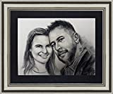 Portrait, you have a beautiful portraits made by artist Henry Cao. Only $ 85.00 for two people portraits. Guarantee a high quality professional gallery artwork with frame mat.