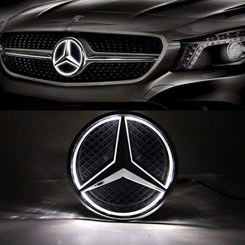 Kimoo MB-LED01 Illuminated LED Light Front Grille Star Emblem Badge for Mercedes Benz W205 C E R ML GL GLA CLA CLS Class 2013-2016
