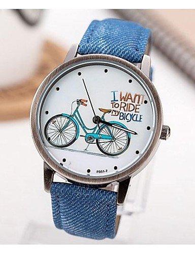 sbsghdx® restauración Manières antiguas bicicletas de mujeres unidad central de reloj de cuarzo de banda