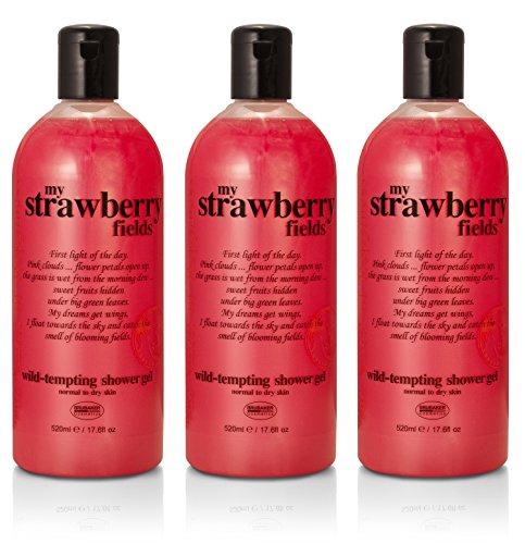 BRUBAKER 3-Pack Happiness 'My Strawberry Fields' Shower Gel,