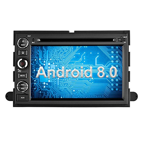 Ohok Android 8.0 Car Stereo 2 Din Head Unit 7 Inch Touchscreen Navigation 8-Core 4G+32G DVD Player Support GPS Navigation Bluetooth Mirror Link,Subwoofer,SWC for FORD F150 Explorer Edge/Expedition