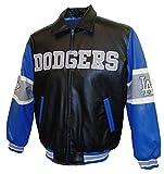 Los Angeles Dodgers Grey Wordmark Pleather Jacket