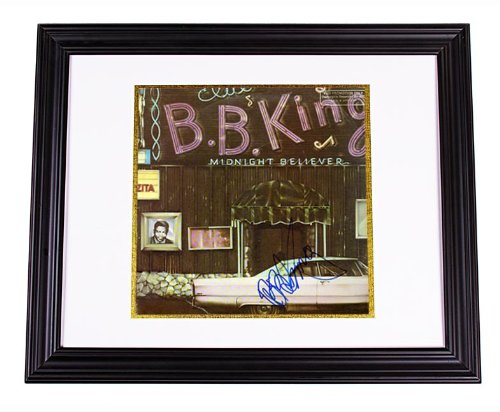 - B.B. King Autographed Midnight Believer Signed LP Photo Proof AFTAL