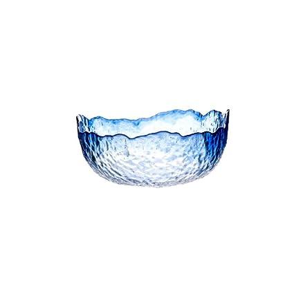Bol de cristal de la exhibición de Nibble de la ensalada del ...