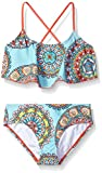 Kanu Surf Girls' Big Jasmine Flounce Bikini Beach Sport 2-Piece Swimsuit, Multi, 10