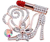 1206 Designs, Inc. Lip Stick and High Heel Brooch (Red, PG)