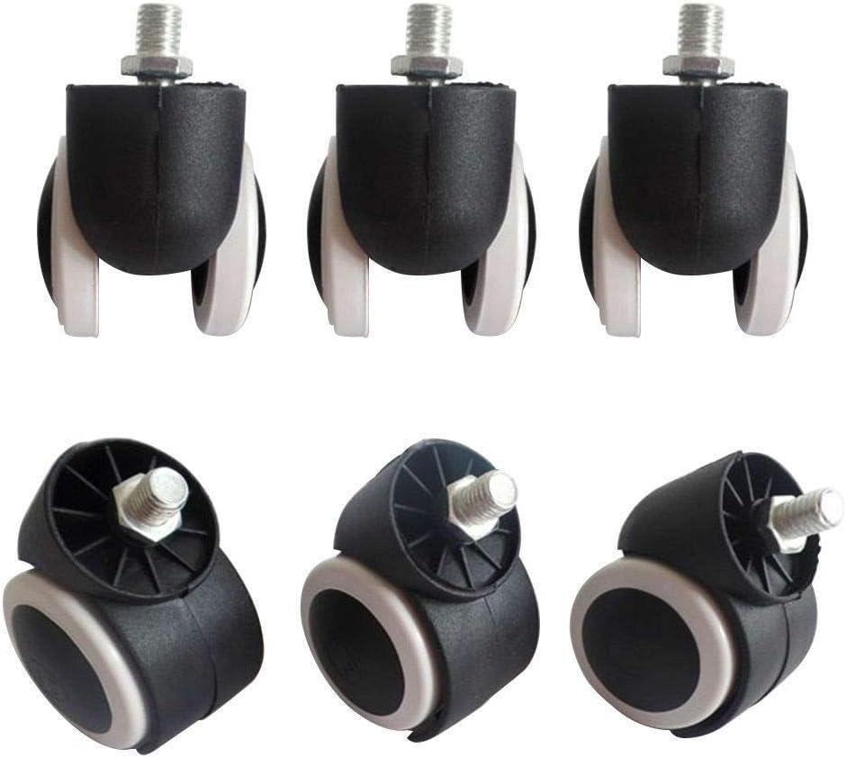 Berkalash Tabouret de salon de beaut/é chaise ronde pivotante en cuir PU noir 5 roues rotatives /à 360 degr/és tabouret de coiffure