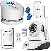 GSM Alarm System,KERUI W2 Wifi Landline Home Security Burglar Alarm System Auto Dialing Dialer 99 Wireless Zones Support IOS & Android APP