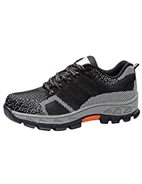 Optimal Men's Safety Shoes Work Shoes Comp Steel Toe Shoes