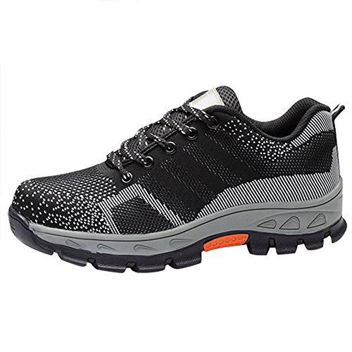 Optimal Product Men's Safety Shoes Work Shoes Comp Steel Toe Black EU46 US10.5