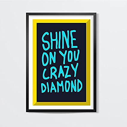 Postergully - Shine On You Crazy Diamond Pink Floyd Wall Art Laminated  Frame 12 x 18 inch  Amazon.in  Home   Kitchen f5ef74935
