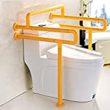 YAOHAOHAO One Type Toilet Armrest Double U Type With Crossbars Barrier-free Disabled People Old Man Pregnant Women Handrail Frame ( Color : White )