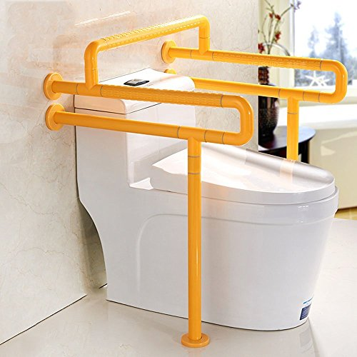 YAOHAOHAO One Type Toilet Armrest Double U Type With Crossbars Barrier-free Disabled People Old Man Pregnant Women Handrail Frame ( Color : White ) by YAOHAOHAO