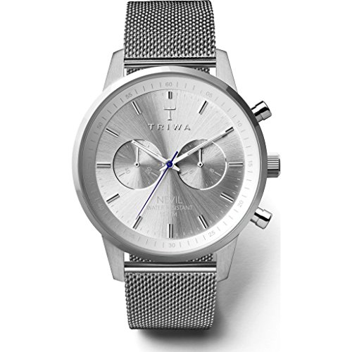 Triwa Stirling Nevil Chronograph Watch 2.0 | Steel Mesh