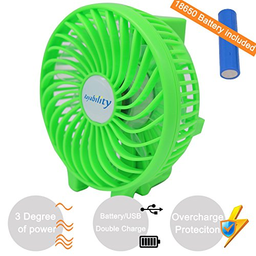 Price comparison product image Green Desktop USB Cooling Fan with Rechargeable Battery, Enhanced Airflow, 3 Speed Adjustable, Can be Attached to Baby Carriage or Umbrella