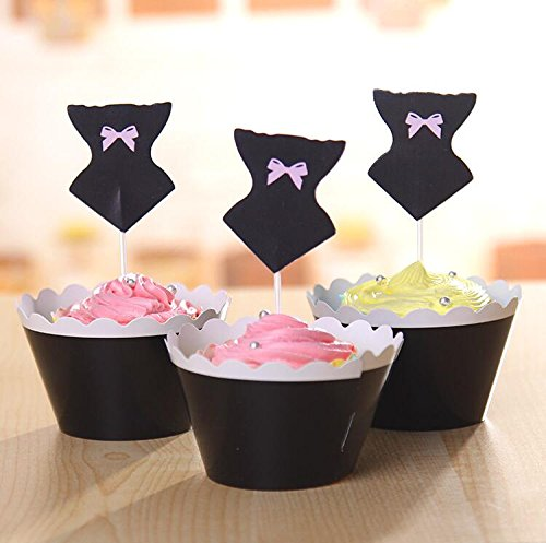 Corset Cupcake Wrappers Toppers Birthday