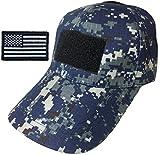navy digital camo - Ranger Return Tactical Military Digital Navy Blue Army Camo Camouflage Baseball Adjustable Hat Cap with USA Flag Patch - (RR-CAMO-DGSB-TCAP-WUSA)
