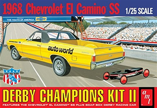 AMT 1018 1968 Chevrolet El Camino SS Derby Champions Kit II 1:25 Scale Plastic Model Kit - Requires Assembly (El Camino Model Kit compare prices)