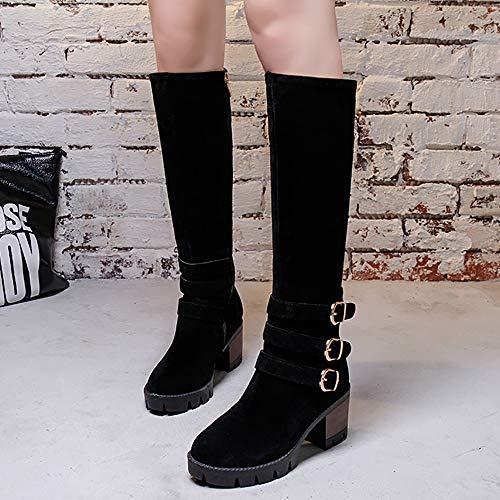 Black Black Tacco NIGHT Lunghi A Cerniera Blocco Blocco Stivali CHERRY Donna FwPv8