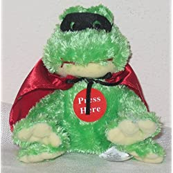 Ganz New Kissing Bandit Plush Frog with Mask for Valentine's Day - Kissing Sound