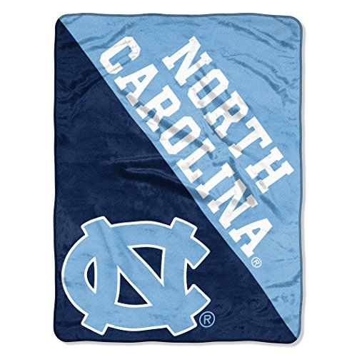 UNC OFFICIAL Collegiate, Grunge 46 x 60 Micro Raschel Throw ()