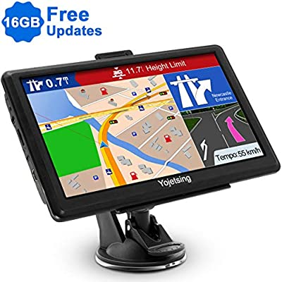 Sat Nav GPS Navigation System  YoJetSing inch 16GB 256MB Car Truck Lorry Capacitive Touch Screen Satellite Navigator Device Pre-loaded UK EU 2019 Newest Maps with Lifetime Free Updates