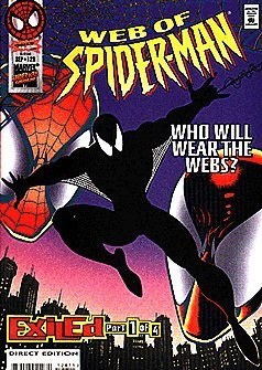 Web of Spider-Man #128 : Who Will Wear the Webs (Exiled - Marvel Comics) -