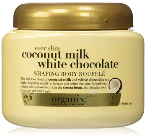 Chocolate Souffle Body Souffle - Organix Shaping Body Souffle, Ever Slim, Coconut Milk White Chocolate 8 oz (237 ml)