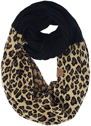 (S1-6100-L06 Funky Junque Infinity Scarf - Leopard (Black))