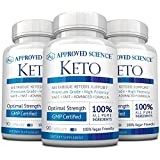 Approved Science Keto: Pure Exogenous 4 Ketone Salts (Calcium, Sodium, Magnesium and Potassium) and MCT Oil to Boost Ketosis and Burn Fat. 3 Bottles