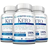 Approved Science® Keto: Pure Exogenous 4 Ketone Salts (Calcium, Sodium, Magnesium and Potassium) and MCT Oil to Boost Ketosis and Burn Fat. 3 Bottles