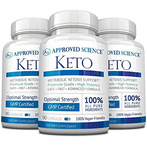 Approved Science® Keto: Pure Exogenous 4 Ketone Salts (Calcium, Sodium, Magnesium and Potassium) and MCT Oil to Boost Ketosis and Burn Fat. 3 Bottles by Approved Science (Image #5)