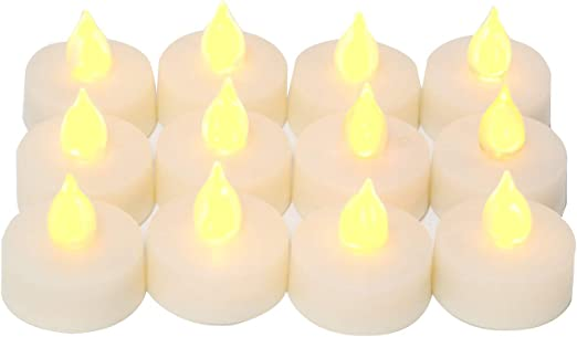"""Outdoor Flameless LED Candles with Timer Waterproof Plastic Resin Realistic Flickering Battery Operated LED Pillar Candles Wedding Party Garden Decoration Long Lasting 1500 Hours Battery Life 3/""""x4/"""""""