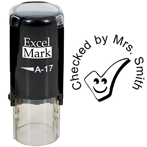 (Checked by - ExcelMark Custom Round Self-Inking Teacher Stamp)