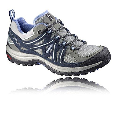 Salomon Women's Ellipse 2 Aero W Hiking Shoe Titanium / Deep Blue / Petunia Blue