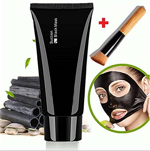 Facial Mask Black, Face Apeel Cleansing Mask Deep Cleanser Blackhead Acne Remover Peel off Mask + Wooden Brush Boolevard Cosmetics Limited