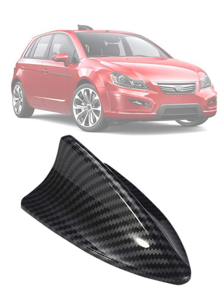 Eilane Shark Fin Car Antenna Carbon Universal Fiber Roof for FM//AM RV Radio fine masterly