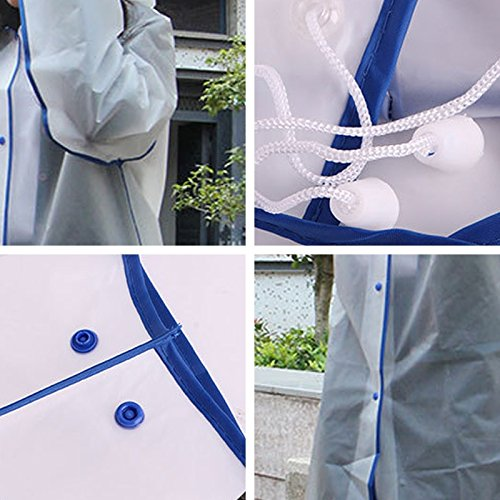 Liuting Electroménager .Fashionable Simple Homme et Étudiantes unique Transparent givré Raincoat (Rose M) (Couleur : Green) Blue