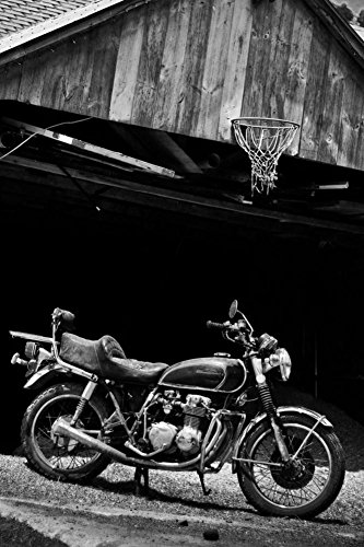 Vintage Motor Racing (Vintage Motorcycle Plastic Sign 12 x 18in)