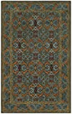 Safavieh HG741W-4 Heritage Collection Premium Wool Area Rug, 4′ x 6′ , Sage/Blue Review