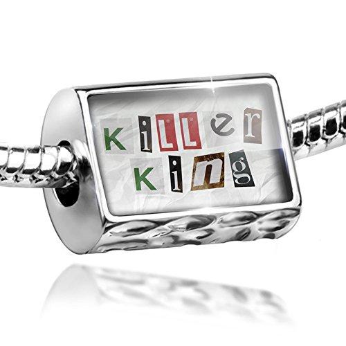 NEONBLOND Bead Killer King Ransom Blackmail Letter Charm Fits All European Bracelets