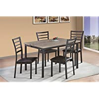 Milton Greens Stars Terrassa 48 x 36 Rectangular Dining Table, 2-Tone 5 Piece Set