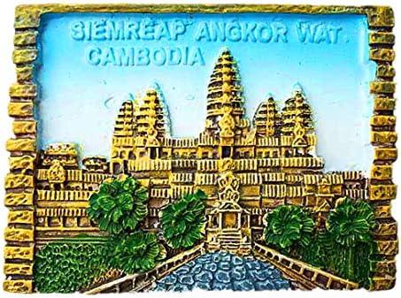 Sim Reap Angkor Wat Camboya Refrigerador 3D Imán de Nevera Ciudad ...